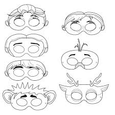 14 printable coloring paper masks images