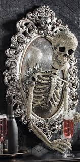 halloween coffins decorations sorceress skull framed mirror frame mirrors decorating and