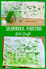 shamrock painting kids craft thank you honey