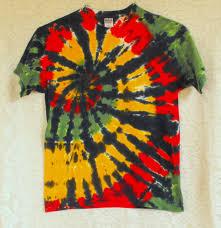 tie dye t shirt in rasta colors