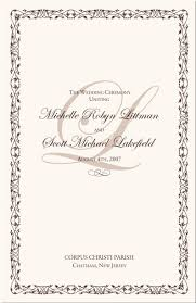 wedding program cover program cover clipart