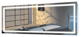 Wall Mounted Mirror With Lights Large Led Lighted 72