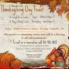 community thanksgiving meal huntingburg chamber