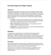 executive report template 7 free word pdf documents download