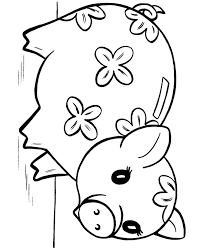 Coloring Page Pig Many Interesting Cliparts Pig Coloring Pages