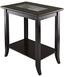 black coffee and end tables amazon com winsome ava accent table with 2 drawer in black finish