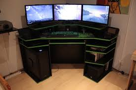 100 gaming desk setups black gaming computer desk setup