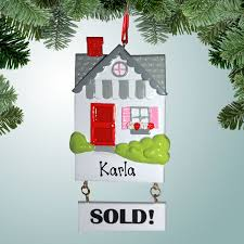occupations realtor ornaments house with sold sign
