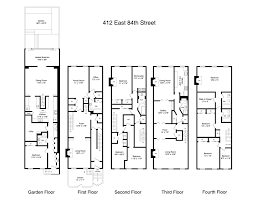good brownstone floor plan part 8 brownstone floor plans new