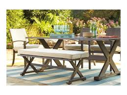 Outdoor Dining Room Signature Design By Ashley Moresdale Outdoor Dining Set With Bench