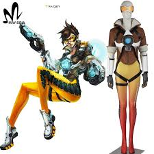 German Soldier Halloween Costume Aliexpress Buy Popular Game Ow Cosplay Lena Oxton Tracer