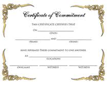 free blank commitment ceremony printable certificates templates
