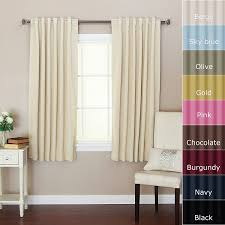 Chezmoi Collection Curtains by Solid Thermal Insulated Back Tap Blackout Curtain 52