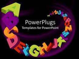 alphabet powerpoint templates crystalgraphics