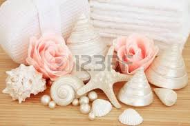Shell Bathroom Accessories by Rose Flowers With Bathroom Accessories Of Moisturiser Cream