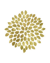 large gold flower printable art these bare walls