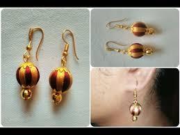 easy earrings multi color silk thread earrings diy simple and easy