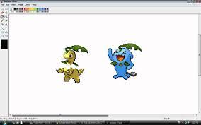 how to make custom pokemon sprites using paint youtube