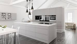 Grey Wood Floors Kitchen by Super Matt Kitchen