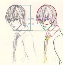 how to draw manga light yagami drawing and digital painting