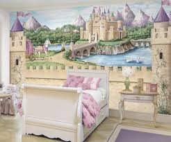 Fairy Princess Castle Wallpaper Mural W Carriage Princess - Girls bedroom wall murals