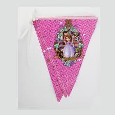 sofia the party supplies 1sets 3 2m party supplies triangle flag princess sofia birthday