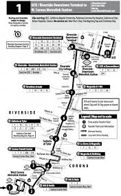 Metro Link Map by Riverside Transit Agency Rt 1 Service Interrupted To West