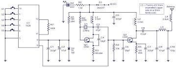 5 channel radio remote control circuit based of tx 2b rx 2b pair