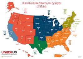 Florida Regions Map by Nclr Affiliates By Region