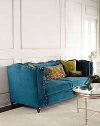 Navy Leather Sofa by Sofa Turquoise Sofa For Luxury Mid Century Sofas Design Ideas