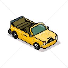 cartoon convertible car pixel art convertible vector image 1959076 stockunlimited