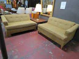 Vintage Sectional Sofa Vintage Mid Century Modern 2 Piece Sectional Sofa 895