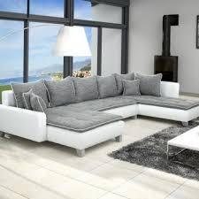 canape cuir et tissu salon moderne cuir idées décoration intérieure farik us