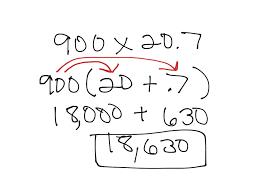 multiplying decimals using distributive property math showme