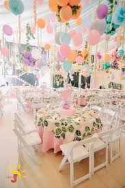 centerpieces for party tables s pink flamingo themed party table centerpiece let s