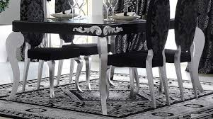 black and silver dining room set photo of goodly black and silver