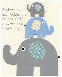 baby boy nursery decor nursery print baby elephant we