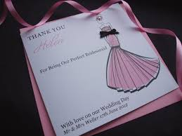 thank you bridesmaid cards chic thank you bridesmaid card handmade cards pink posh