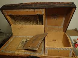 remove odors smells old steamer trunks antique trunks chests picture of the inside of a old antique steamer trunk that smells and has odors