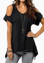 the shoulder black blouse sh3047 black open shoulder slouchy boho hippie v neck lounge