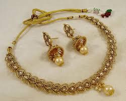 gold choker necklace sets images Traditional indian designer choker necklace set bridal women jpeg