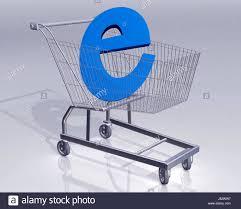 Objekt Kaufen Einkaufswagen Supermarkt Trolley Einkaufswagen Blau Reihenfolge