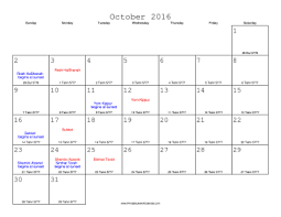hebraic calendar 2016 calendar with equivalents