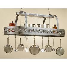interior marvelous kitchen lights with pot rack copper pot
