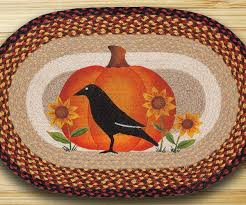 Braided Rugs Earth Rugs Crow Pumpkin Sunflower Earth Rugs Crow Pumpkin