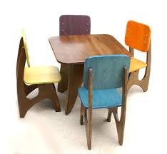 Children S Dining Table Modern Child Table Set 4 Chair Option Child Modern And Etsy