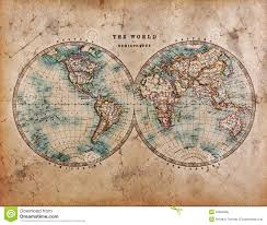 Eastern Hemisphere Map Old World Map In Hemispheres Royalty Free Stock Photos Image