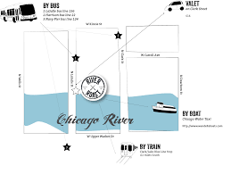 Chicago Illinois On Map by River Roast