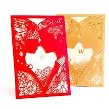 vintage 3d laser cut wedding mariage free personalized