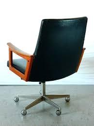 mid century desk chair mid century leather desk chair